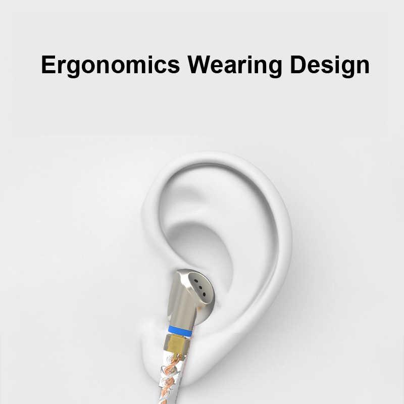 SENFER PT25 Graphene Dynamic Earphones In Ear Stereo Ear Bud HI FI Metal DJ Headset MMCX Detachable Cable for iPhone xiaomi Sony