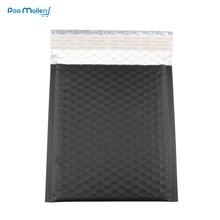 10pcs 185*200mm black metallic bubble padded envelope jiffy bag,Matte and glossy foil bubble mailer