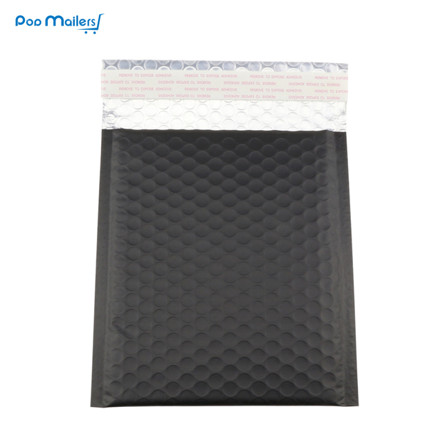 ba1db59bd1b9 10pcs 185 200mm black metallic bubble padded envelope jiffy bag ...