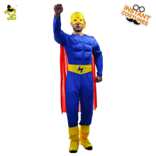 flash man halloween costume fireman blue costumes man superhero fancy dress for carnival party role play performance show - Fireman Halloween