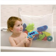 Kids Baby Funny Toy Mesh Bath Bathtub Doll Organizer Suction Bathroom Stuff Net funny(China)