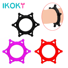 IKOKY Penis Ring Cock Ring Delay Ejaculation Silicone Sex Toys for Men Dildo Extender Male Masturbation
