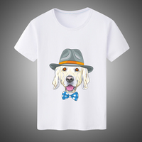 Nieuwe Mode Casual Unisex Mannen WomenT Shirt Animal Cosplay Leuke Grappige Hond/Lion/Vos Gedrukt Korte Mouw T-shirt Tops