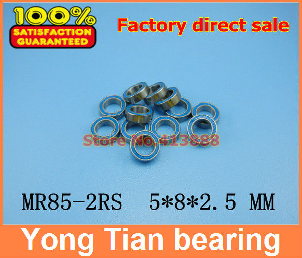 Free Shipping High quality 10PCS MR85-2RS ABEC-5 5*8*2.5 mm Miniature Ball Bearings MR85RS L850 1pcs 71901 71901cd p4 7901 12x24x6 mochu thin walled miniature angular contact bearings speed spindle bearings cnc abec 7