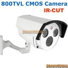 Conjunto de Cámaras Ir Led Con Filtro IR-CUT 800TVL del CCTV del Hogar de Imagen en Color Sistema de Seguridad Para El Hogar de Vigilancia de Visión Nocturna Resistente Al Agua