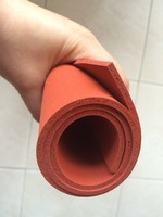 500X500X2mm AG Silicone Sponge Sheet 500mm Width 2mm Thickness Closed Cell Foam Silikon Sheet RED Color