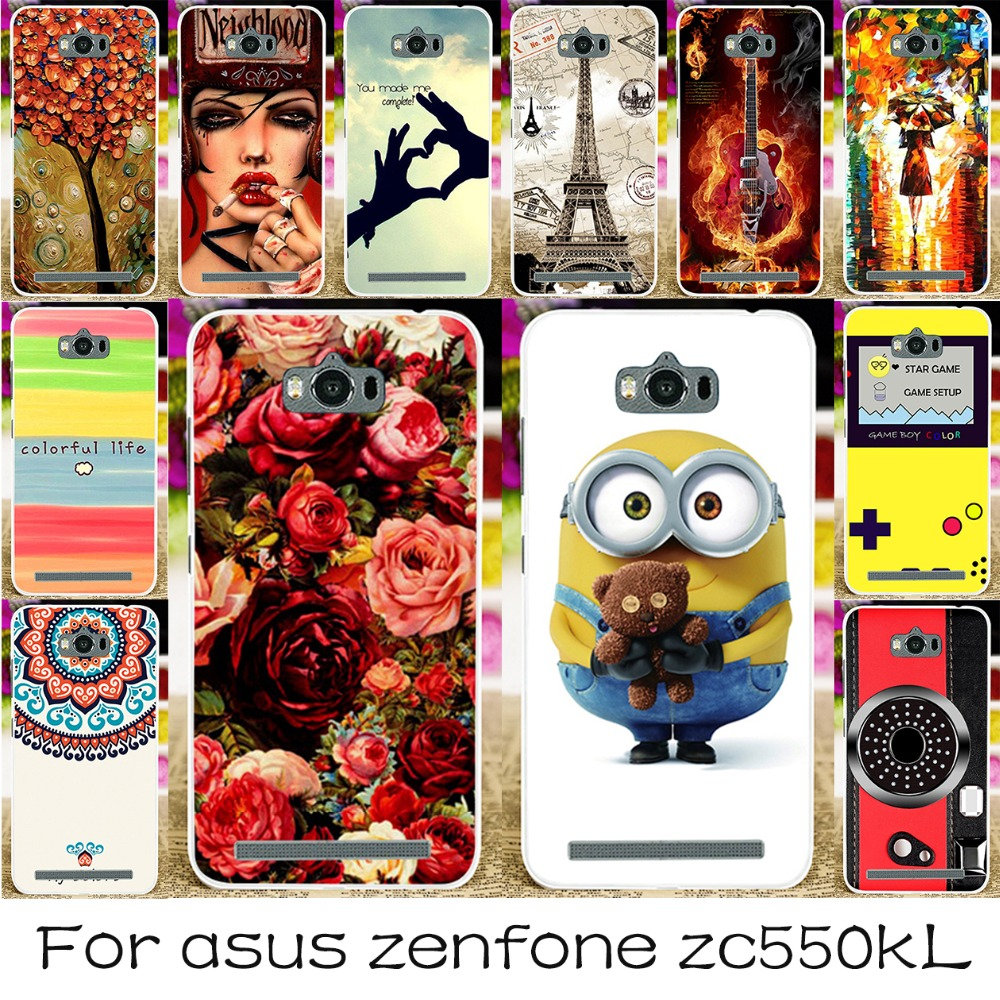 TAOYUNXI Case For ASUS Zenfone MAX Cases Silicone DIY Painted Cover For ASUS Z010D Covers <font><b>Z010DD</b></font> ZC550KL Z010DA Fundas Coque image