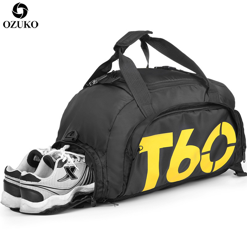 Large Capacity Men Travel Bag Fashion Sports Gym Bag For Teenager Men Multifunctional Shoulder Hand Bag Waterproof Travel Duffle