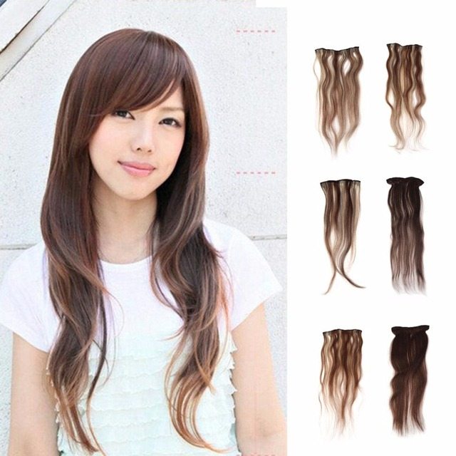Women Clip In 100 Human Hair Long Hair Extensions Wig 20 24