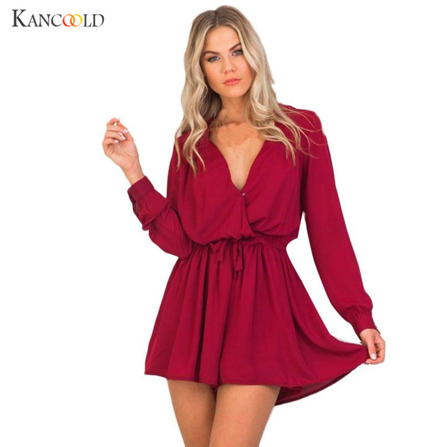c304f400f16b 2018 Women Romper Shorts Jumpsuit Sexy Short Sleeve Playsuit V Neck Bohemian  Beach Overalls Casual Loose