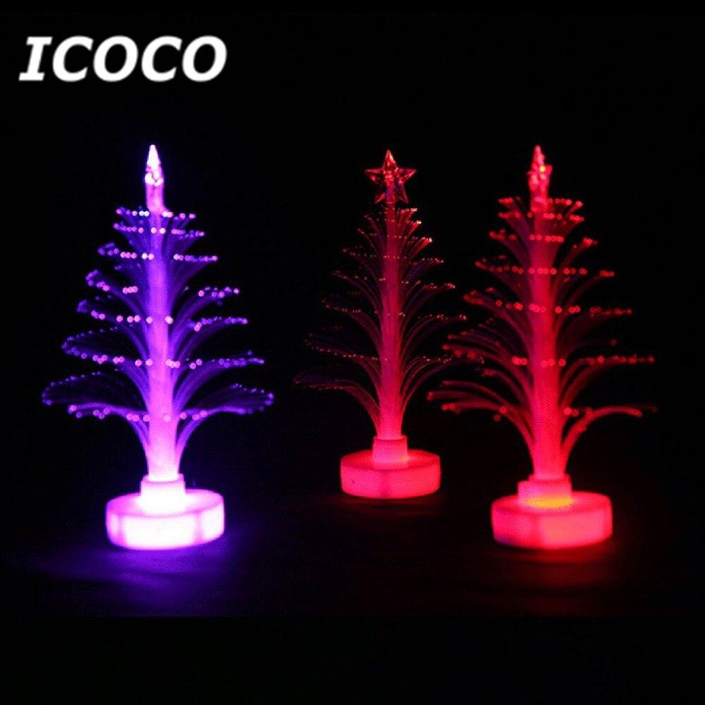 Icoco Рождество дерево света Цвет Изменение светодиодные лампы украшения комнаты орнамент маленький ночник для дома партии фестиваль распро...