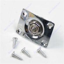 Chrome Rectangle Output Guitar Jack Plate Socket