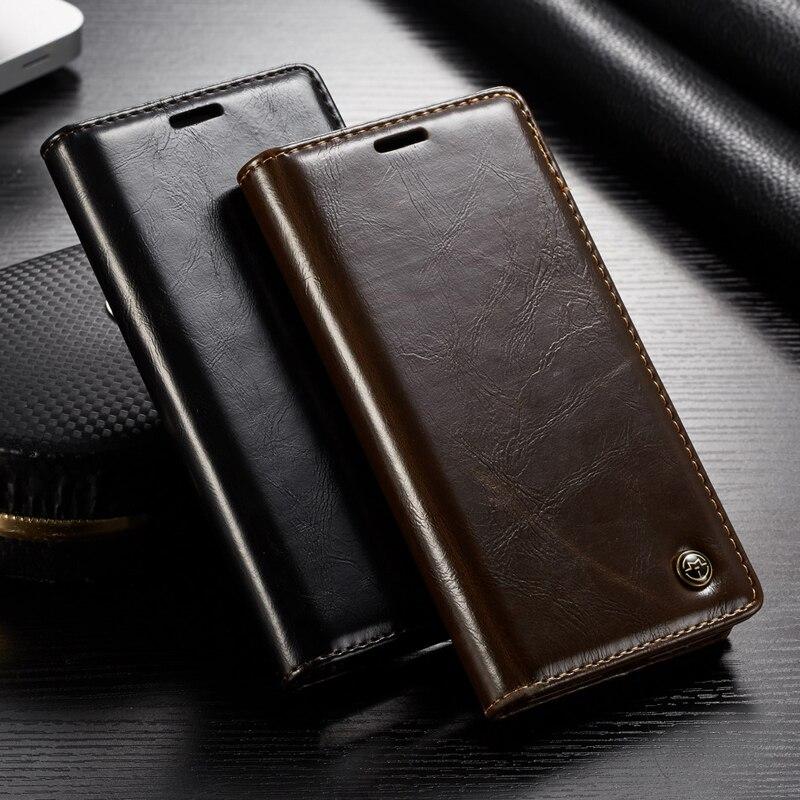 Galleria fotografica Luxury Original Genuine Leather Wallet Card Flip Phone Case Cover For iPhone XR X XS Max 8 7 6 6s Plus 5S 5SE 5 X Cases