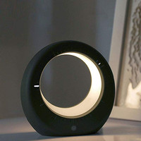 LINEGMT Night Lamp Clock USB Charging Moon Light Nordic Bedside Lamp Simplified Decorative Table