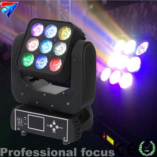 Free Shiping 2pcs/lot New Product On China Market 3*3 RGBW 4in1 9*10w LED Matrix Moving Head Light ,Beam light ...