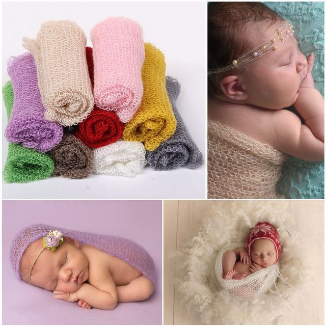 6d7dd31e8 Newborn Baby Stretch Textured Knit Rayon Wrap waddling Hot Infant ...