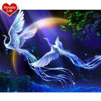 5d DIY Diamond Painting Animal Phoenix Bird Cross Stitch Crystal Round Resin Mosaic Pictures Diamond Embroidery
