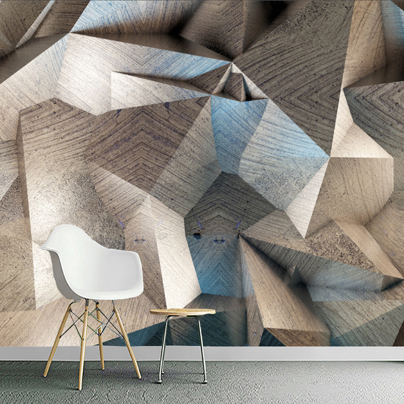 Custom Mural Wallpaper For Walls 3D Stereoscopic Abstract Geometric Lattice Wall Painting Living Room Decoration Papel De Parede custom 3d photo wallpaper waterfall landscape mural wall painting papel de parede living room desktop wallpaper walls 3d modern