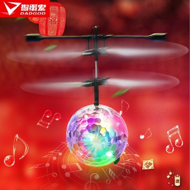 Rascal new induction colorful glare small apple aircraft with music lights remote control airplane model toy
