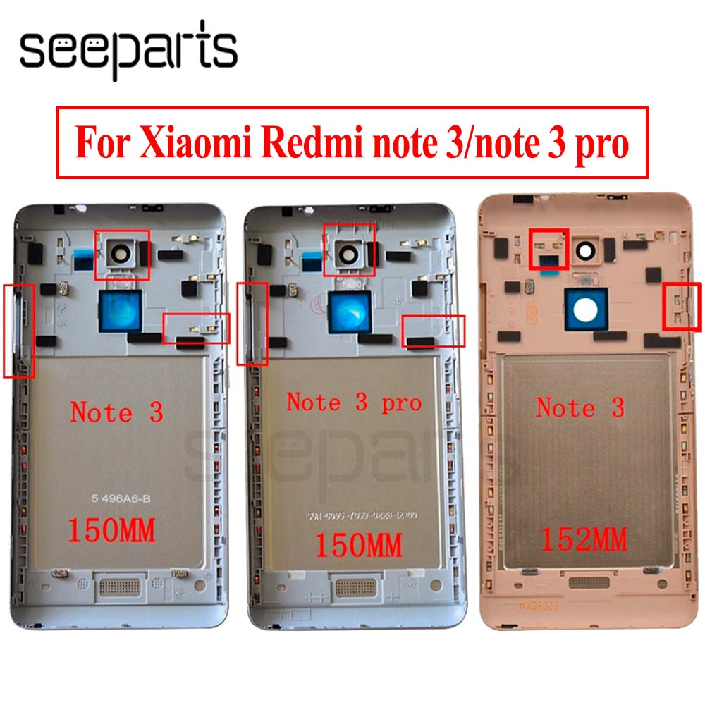 For Xiaomi Redmi Note 3 150mm/152mm Battery Cover Redmi Note 3 Pro Back Battery Cover Door Housing Case Global/Special Edition