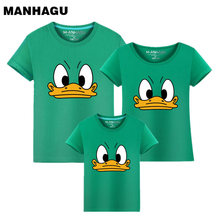 Family Look 2017 Fashion Mother Father Baby Cotton Mommy and Me Clothes Clothing Duck mouth Matching Outfits Tops