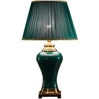 Классическая лампа зеленый нефрит настольные лампы для дворца принцесса свадьба вилла клуб искусство отель домашнее светодиодное освещен
