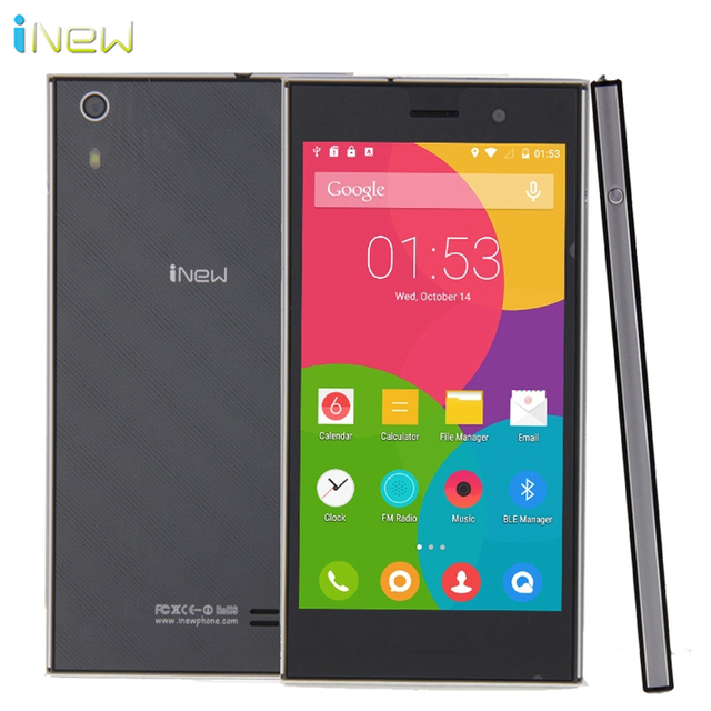 "Original iNew L3 Cell Phones MTK6735 Quad-Core 2G RAM 16G ROM Android 5.0 OS 5.0"" OGS Screen 13.0MP Camera 4G LTE Smartphone"