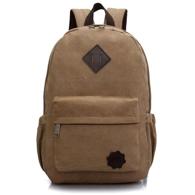 2016 Men Canvas Backpack Fashion School Bag New Women Casual Travel Rucksack Zipper Shoulder Bags Unisex Laptop Bagpack JXY711
