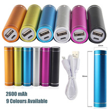 Free Shipping Portable Power Bank External 2600mAh Mobile USB Battery Charger for Cell Phone