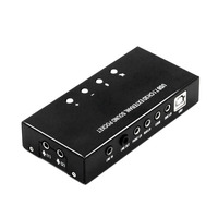7.1 Channel External USB Sound Card Sound Box with Driver CD Digital Audio Streaming Vista Sound Card Adapter for Computer