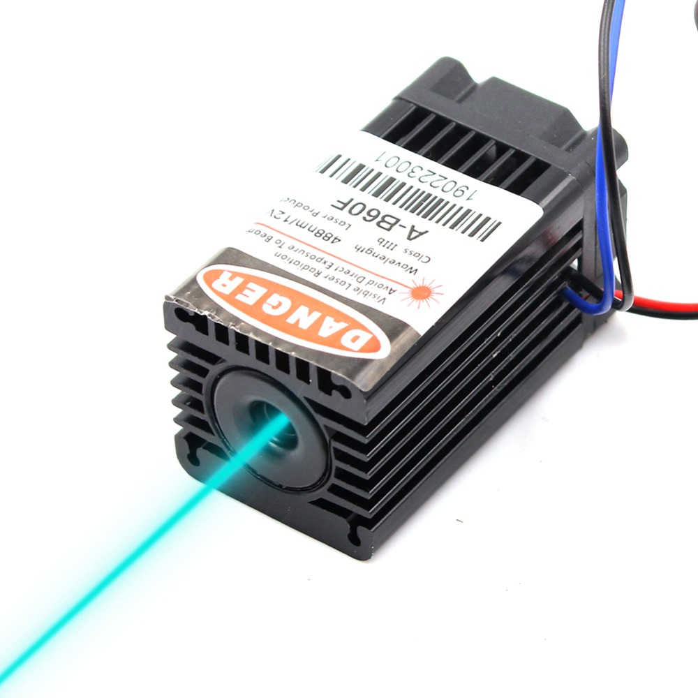 Oxlasers NEW 12V 488nm 100mW SKY BLUE Laser Module Lab Laser Device Escaping Room Laser With Cooling Fan FREE SHIPPING