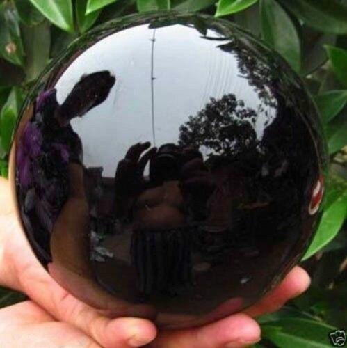 Ossidiana Nera naturale Sfera Grande Sfera di Cristallo Sfera di Guarigione di Pietra