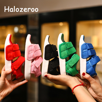 Summer New 2019 Kids Beach Sandals Baby Girls Casual Shoes Children Black Shoes Fashion Sandals Soft Brand Shoes Sport Sandals kids sandals summer kids shoes children magic hook beach sandals fashion bowknot girls flat pricness shoes