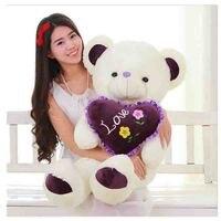 Плюшевые игрушки Teddy Bear обнять сердце любовь медведь 100% хлопок День святого Валентина подарки 80 см/2.5 кг