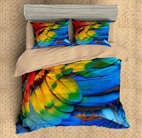 3D print Bedding set feather bright colored feather frinds' gift bedding sheet Duvet cover set Home Textiles