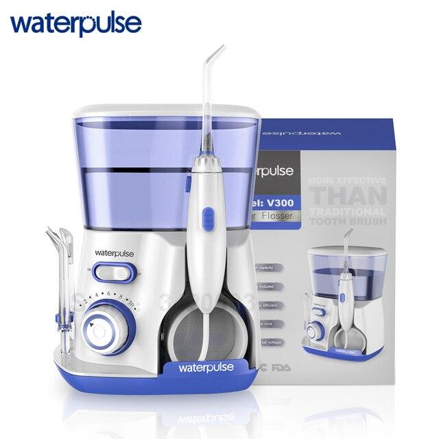 Waterpulse V300B Dental Flosser Water Floss Oral Irrigator With 5 Jet Tips Dental Oral Hygiene 10 Pressures Teeth Cleaner Floss