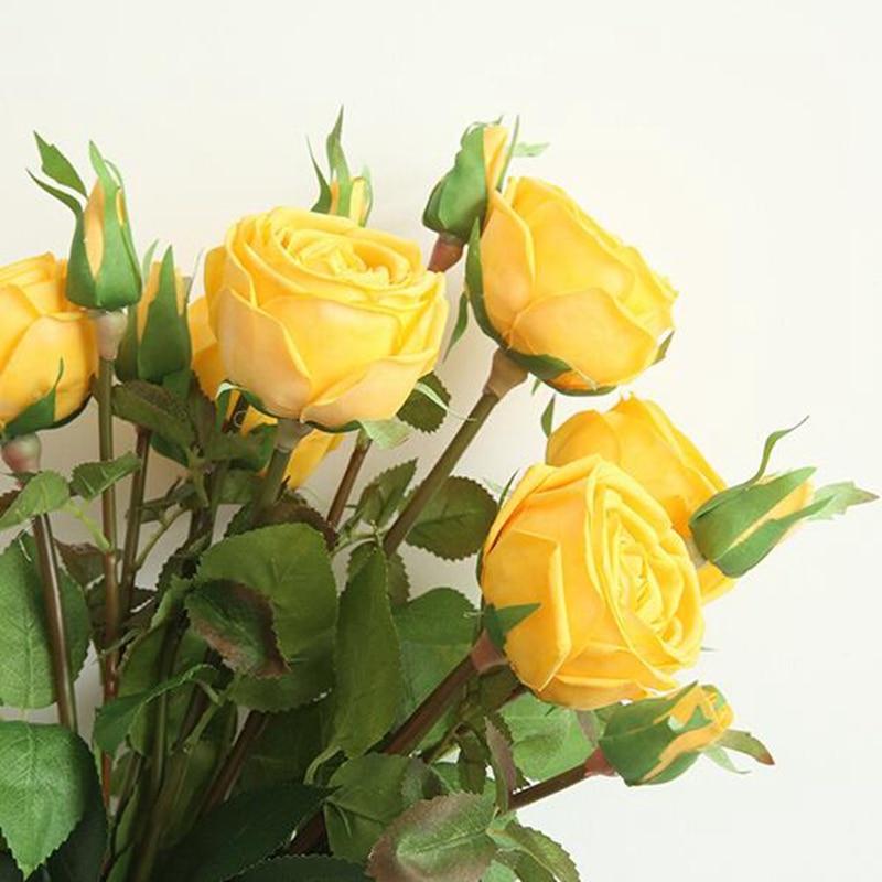 10 pièces artificielle soie Rose fleur diamant Rose Simulation faux Rose pour fête de mariage décoration de la maison et Bridual Bounquet