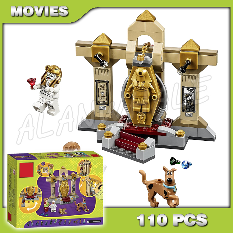 110pcs Bela <font><b>10428</b></font> Mummy Museum Mystery Scooby-Doo Cute Dog Dr. Najib toys Model Building Blocks Gifts Compatible with Lego image