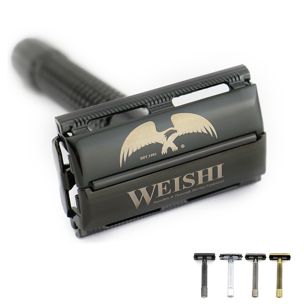 WEISHI butterfly safety razor Double edge razor Metal 9306-F Silvery 9306-C Gun color 9306-I Bronze PVD Black High quality NEW