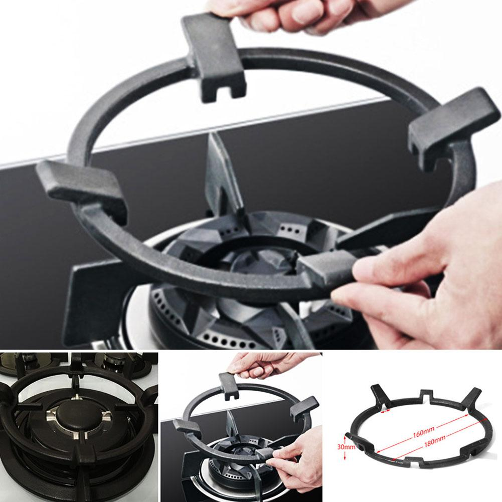 Wok Pan Support Rack Black Home Pro Portable Universal Cast Iron Stand Cookers