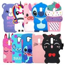 Phone Case For Samsung Galaxy J6 2018 Funda J600 J600F Cute Cartoon Soft Silicone Back Cover For Samsung J6 2018 Hoesje SM-J600F цена и фото