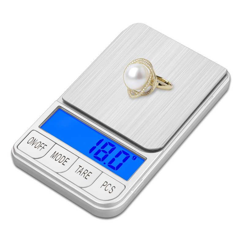 Túi Mini Quy Mô Kỹ Thuật Số 200G X 0.01G Công Cụ LCD Điện Tử Trang Sức Kim Cương Vàng Thảo Mộc Cân Bằng Trọng Lương Cân