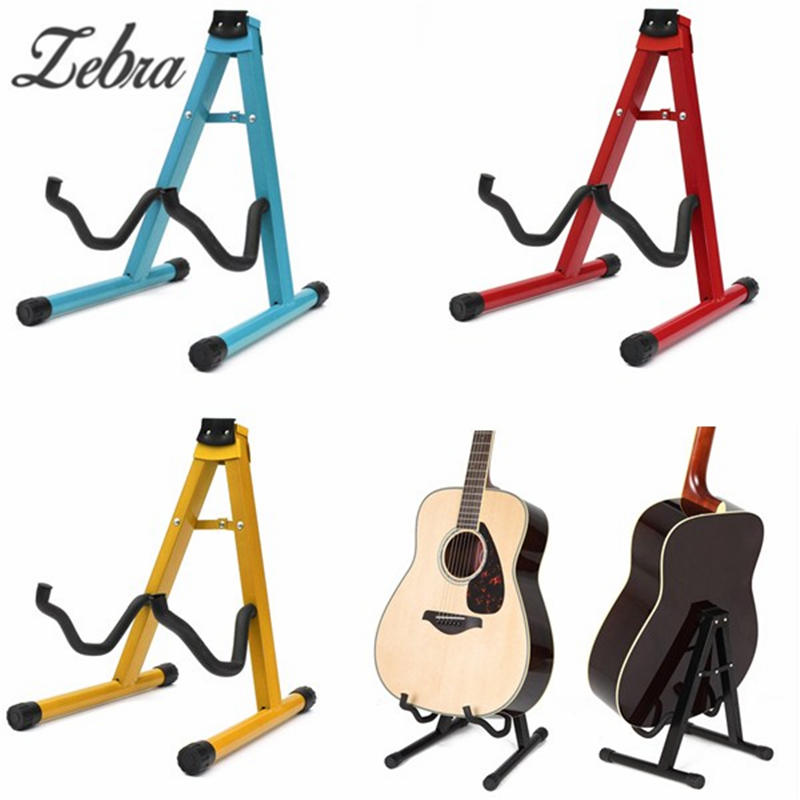 Zebra A Frame Guitar Floor Stand Holder Universal Folding Electric Acoustic Rest Rack For Classic Acoustic Electric Guitars folding a frame electric guitar floor stand holder acoustic guitar electric guitar bass floor rack holder promotion