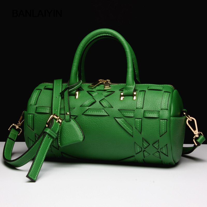 New Brand Women Handbag Cow Split Leather Tote Bag Female Classic Knitting Shoulder Bags Ladies Handbags Messenger Bag