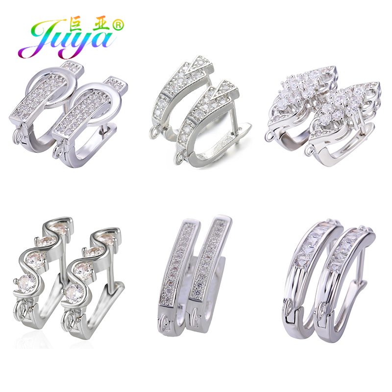 Juya Earring Women's Jewelry Findings Gold/Silver Lever Back Earring Hook Clasp Accessories For Creative Jewelry Earrings Making