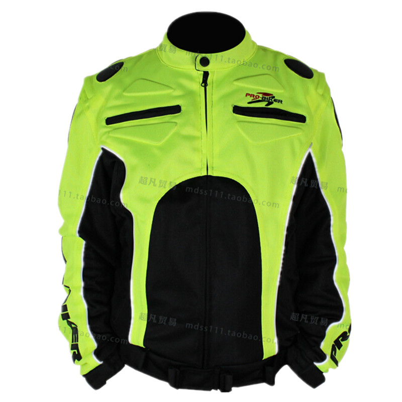 ФОТО Motorcycle Jacket Motocross Racing High-Vis Visibility Safety Reflective Breathable Mesh Cloth Jacket