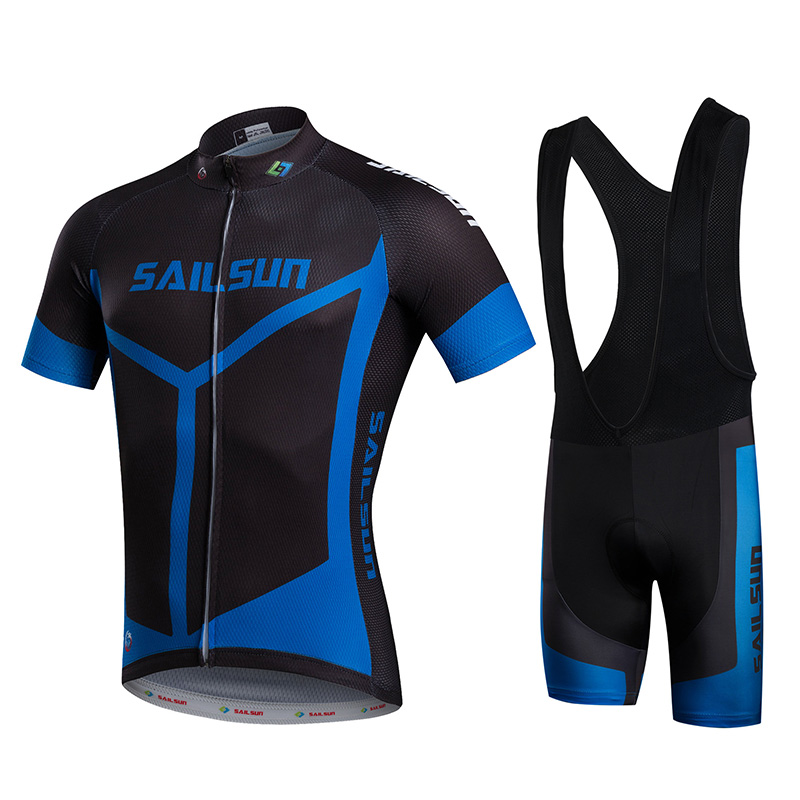 Hot Men Bike Jersey or Cycling Bib Shorts Black Blue MTB Male Team Cycling Top Pro Bicycle Short Sleeve Clothing QuicK dry 2016 new men s cycling jerseys top sleeve blue and white waves bicycle shirt white bike top breathable cycling top ilpaladin