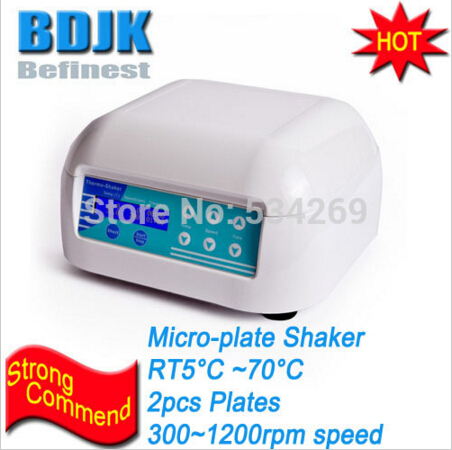 ST70-2 Laboratory Micro-Plate Shaker Incubator with 2 Pieces Plate Thermostat Equipment  цены