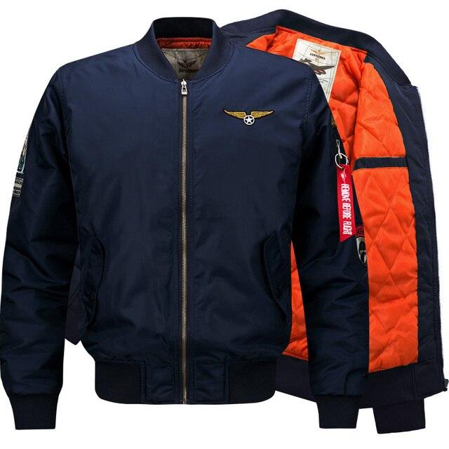 Bomber Jacket Men 2017 Ma 1 Flight Jacket Pilot Air Force Male Ma1 ...
