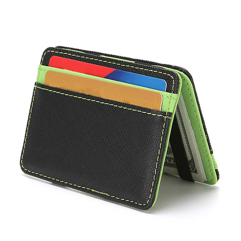 Creative PU Leather Unisex Men Business Credit Card Holder Minimalist Travel Wallet Cardholder Cross ID Card Bag Mini Wallet